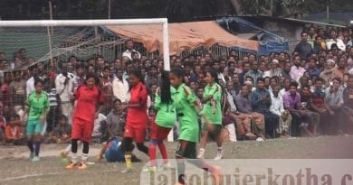 নওগাঁর মান্দায় ঐতিহ্যবাহী বড়পই জাগরণী ক্লাব মাঠে প্রীতি প্রমীলা ফুটবল ম্যাচ অনুষ্ঠিত